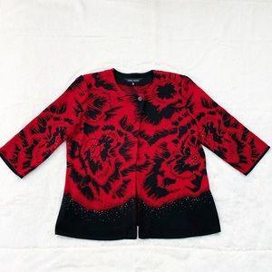 Red and Black Ming Wang Jacket